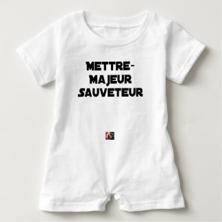 TO PUT MAJOR RESCUER - Word games Baby Romper