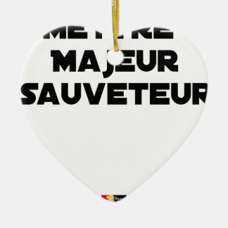 TO PUT MAJOR RESCUER - Word games Ceramic Ornament