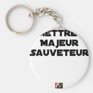 TO PUT MAJOR RESCUER - Word games Keychain