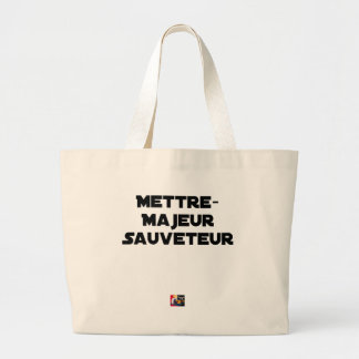 TO PUT MAJOR RESCUER - Word games Large Tote Bag