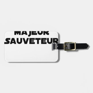 TO PUT MAJOR RESCUER - Word games Luggage Tag