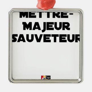 TO PUT MAJOR RESCUER - Word games Metal Ornament