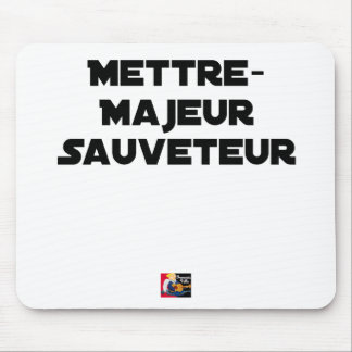 TO PUT MAJOR RESCUER - Word games Mouse Pad