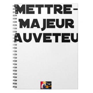 TO PUT MAJOR RESCUER - Word games Notebook