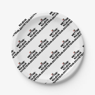 TO PUT MAJOR RESCUER - Word games Paper Plate