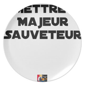 TO PUT MAJOR RESCUER - Word games Plate