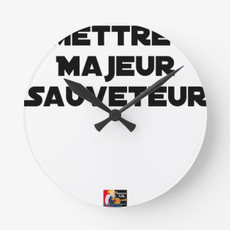 TO PUT MAJOR RESCUER - Word games Round Clock