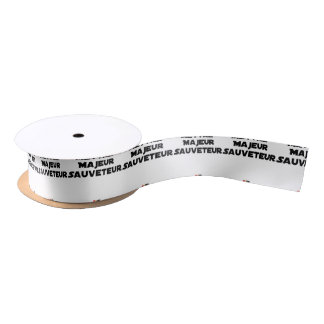 TO PUT MAJOR RESCUER - Word games Satin Ribbon