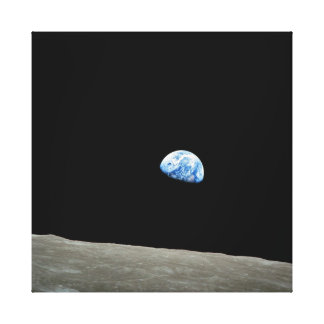 To raise Earth on the Moon Canvas Prints