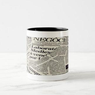 To read a Newspaper Two-Tone Coffee Mug