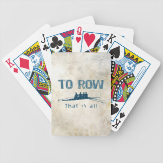 To Row Bicycle Playing Cards