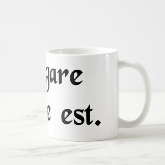 To sail is necessary. coffee mug
