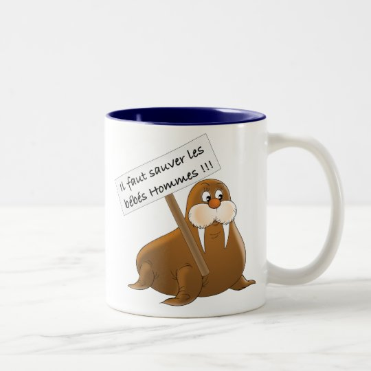 To save the babies Men Two-Tone Coffee Mug