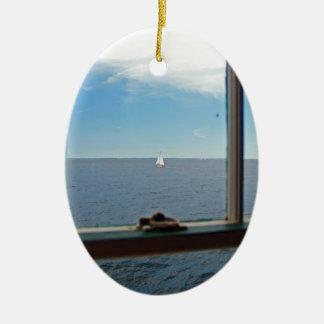To Sea, To Sea Ceramic Ornament