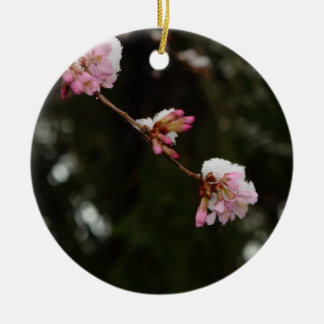 'To See the Cherry Hung with Snow' -A E Housman Ceramic Ornament