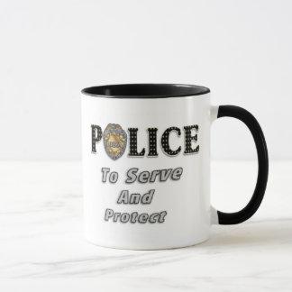 To Serve and Protect Mug