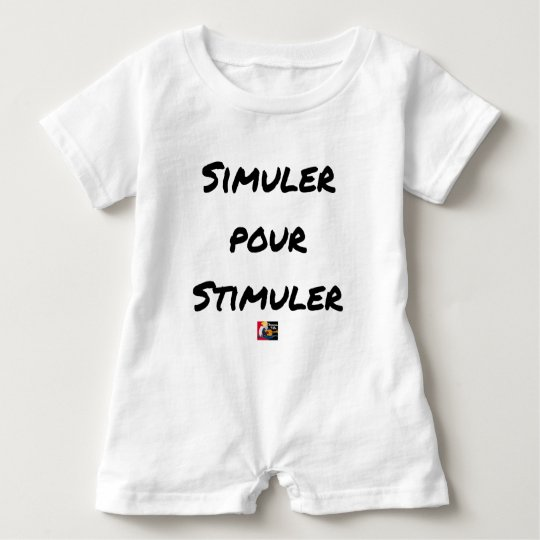TO SIMULATE TO STIMULATE - Word games Baby Romper