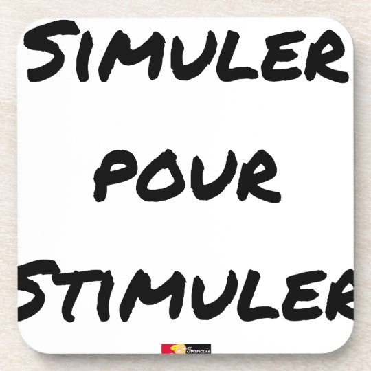 TO SIMULATE TO STIMULATE - Word games Coaster