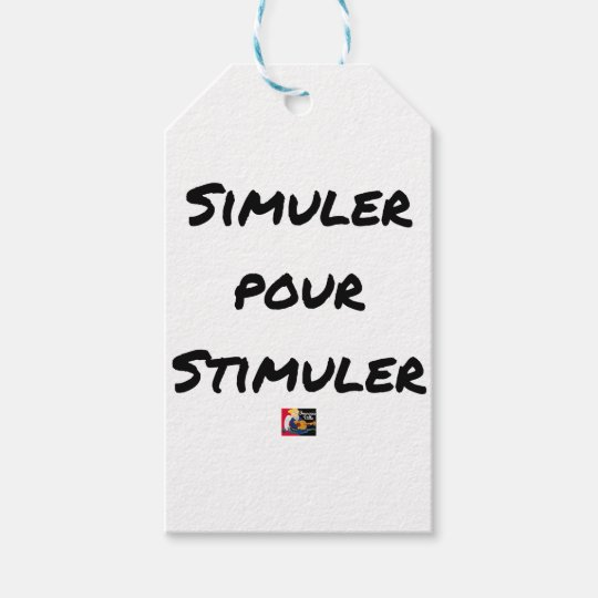 TO SIMULATE TO STIMULATE - Word games Gift Tags