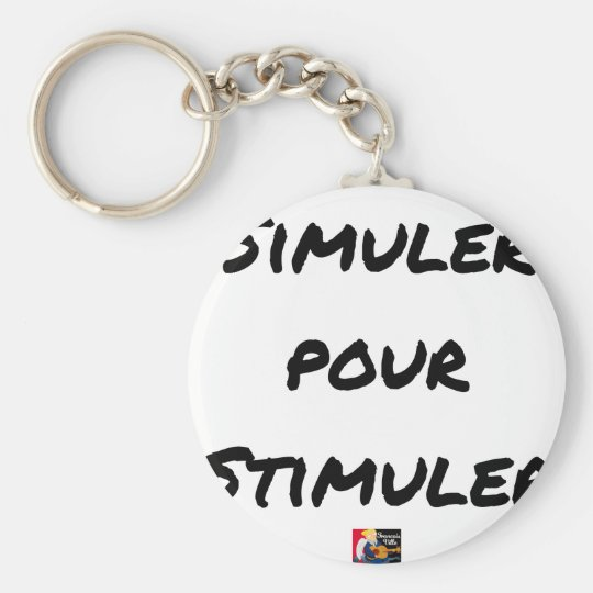 TO SIMULATE TO STIMULATE - Word games Keychain