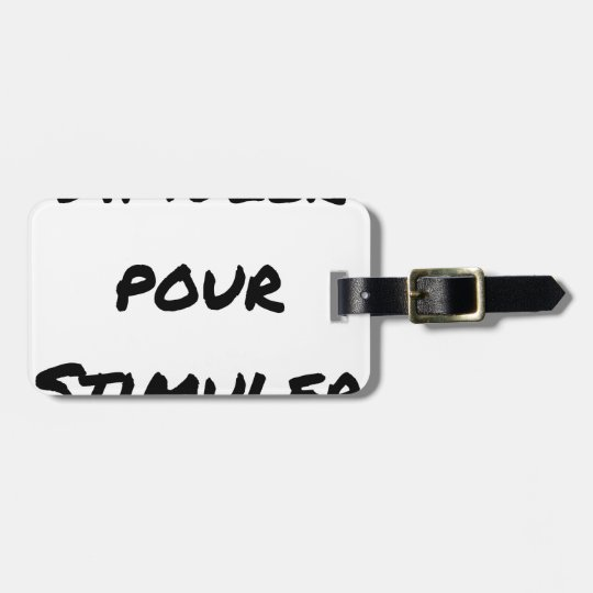 TO SIMULATE TO STIMULATE - Word games Luggage Tag