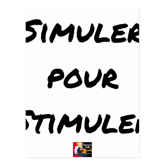 TO SIMULATE TO STIMULATE - Word games Postcard