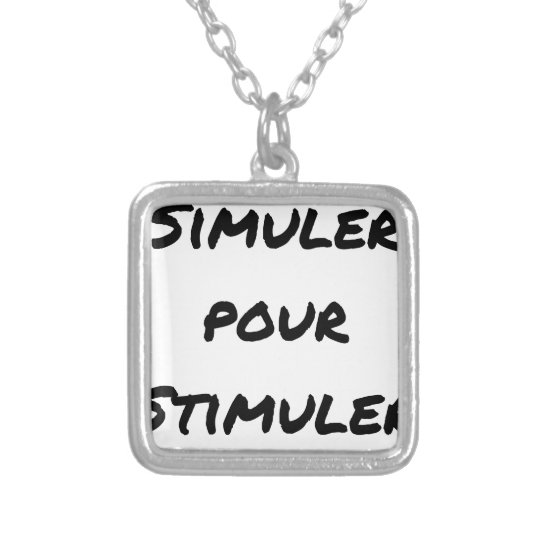 TO SIMULATE TO STIMULATE - Word games Silver Plated Necklace