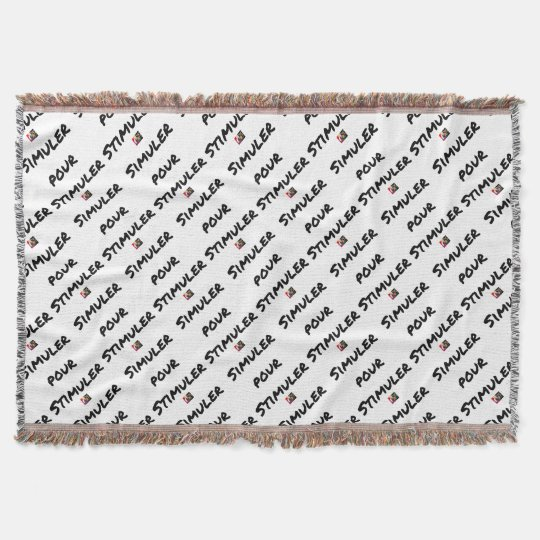 TO SIMULATE TO STIMULATE - Word games Throw Blanket