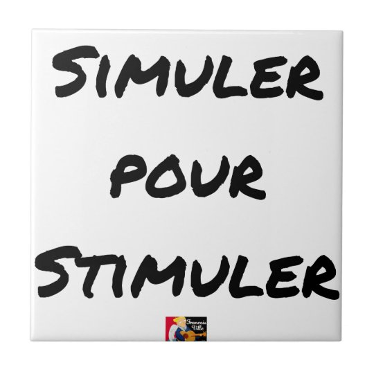 TO SIMULATE TO STIMULATE - Word games Tile