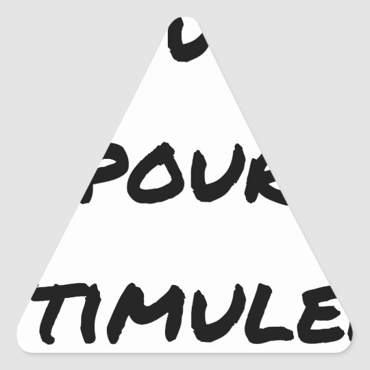 TO SIMULATE TO STIMULATE - Word games Triangle Sticker