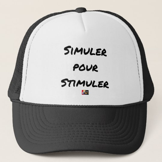 TO SIMULATE TO STIMULATE - Word games Trucker Hat