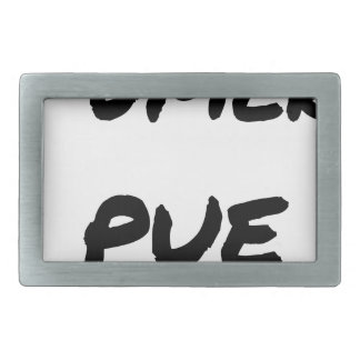 TO SMOKE STINKS - Word games - François Ville Rectangular Belt Buckle