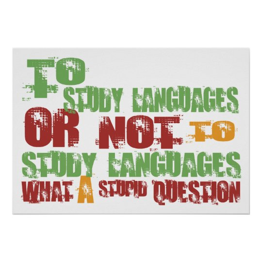 To Study Languages Poster