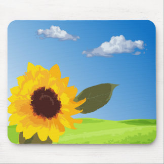 to sunflower mouse pad