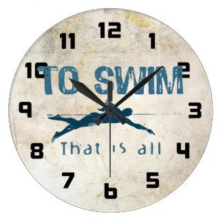 To Swim Large Clock