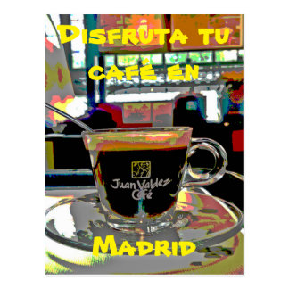 To take a coffee in Madrid Spain Postcard