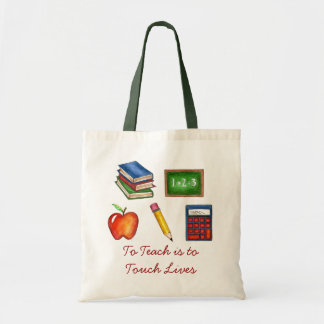 To Teach is to Touch Lives Teacher Teaching Tote Budget Tote Bag