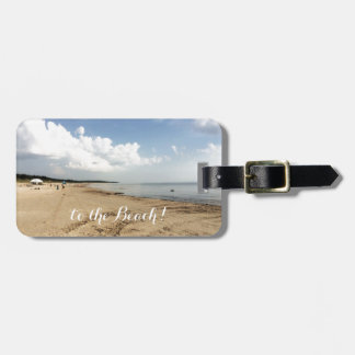 To the beach bag tag