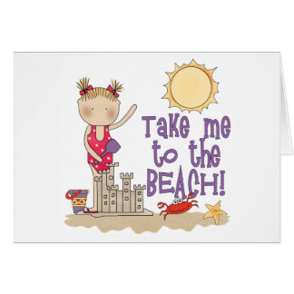 To the Beach (Girl) Note Card
