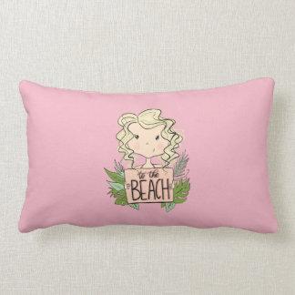 To The Beach Lumbar Pillow