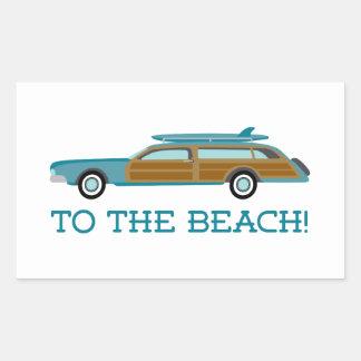 To The Beach Sticker