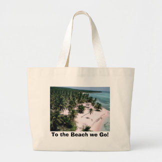 To the Beach we Go! Large Tote Bag