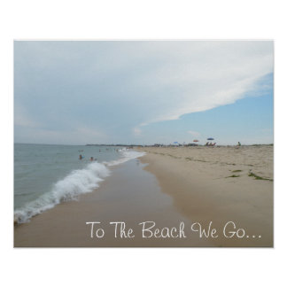 To The Beach We Go Poster
