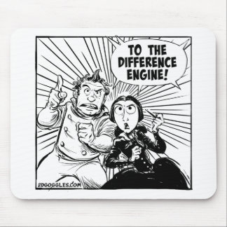 To The Difference Engine Mousemat Mouse Pad