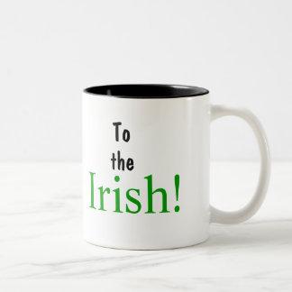 To, the, Irish! Two-Tone Coffee Mug