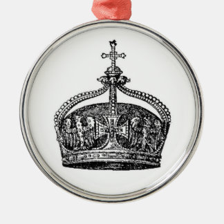 To the King [Crown] Metal Ornament