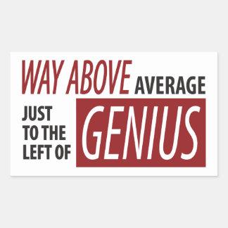 To The Left Of Genius Rectangular Stickers