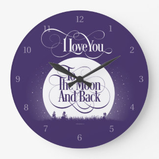 To The Moon And Back Clock
