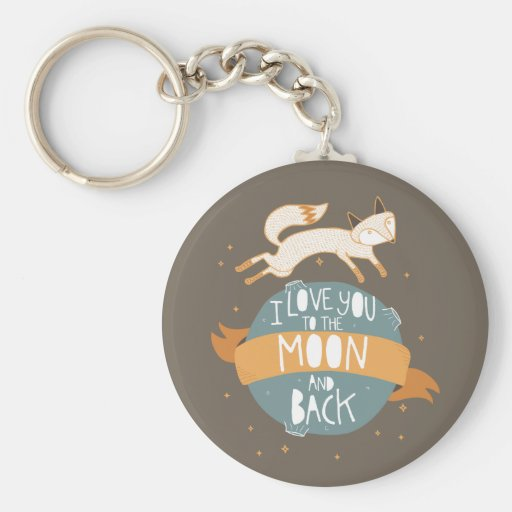 """To the moon and back"" Keychain"