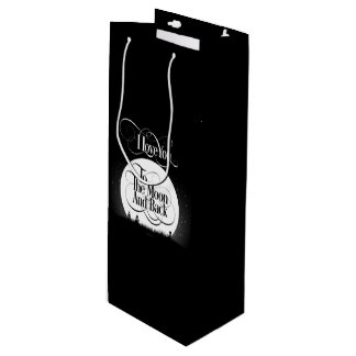 To The Moon And Back Wine Gift Bag